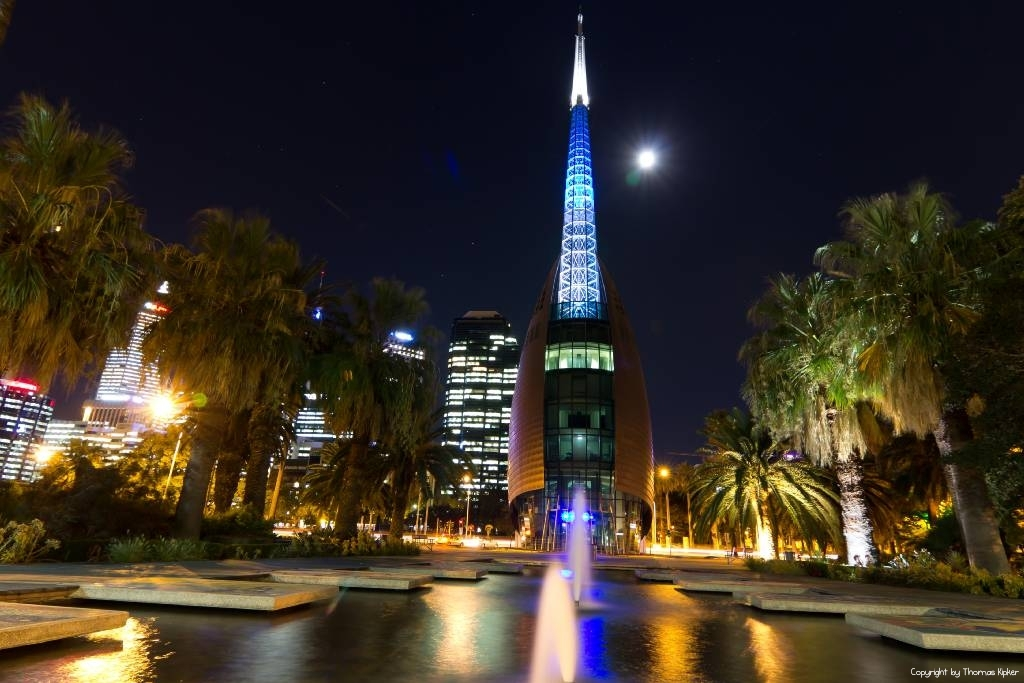 Swan Tower By Night